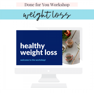 done for you weight loss workshop for nutritionists