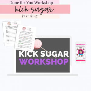 kick sugar quit sugar done for you workshop kit presentation on computer and done for you handouts for clients